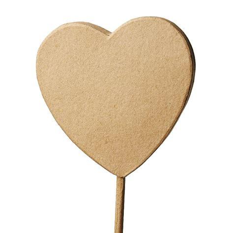 paper stick paper mache heart plant stick paper mache basic craft
