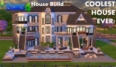 the sims 4 house build mansion coolest house tour