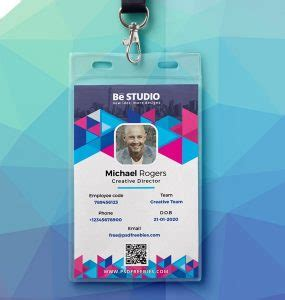 cool id card template free student id card psd psd