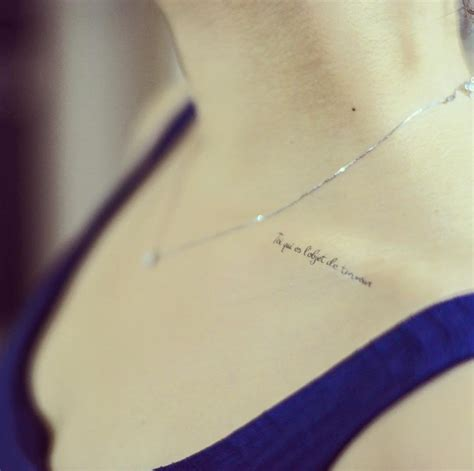 cute collar bone tattoos collarbone quote tattoos for www pixshark