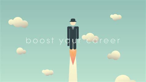 career development cartoon animation template stock