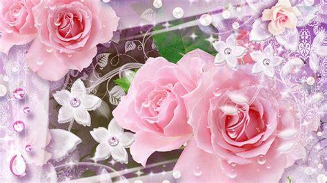 glitter wallpapers of flowers glitter flower wallpapers wallpaper cave