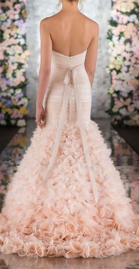 rose themed wedding dress top 15 blush wedding dress designs unique spring theme