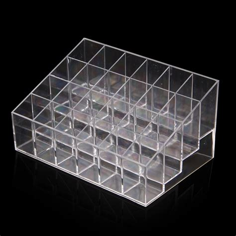 Acrylik Box Lipstik T 24 Clear Acrylic 24 Lipstick Holder Display Stand Cosmetic