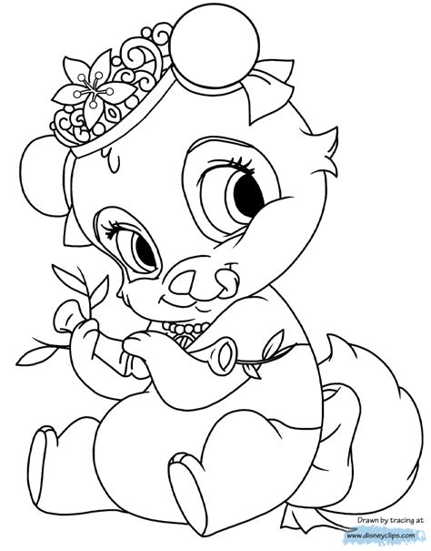 palace pets coloring pages 4 disney coloring book