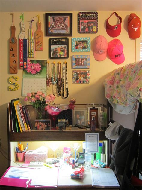 An Inside Look Into A Sorority House About A Sorority Girl Room Desk Organization