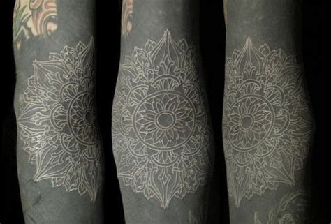 mandala tattoo in white wow white mandala tattoo henna styles pinterest