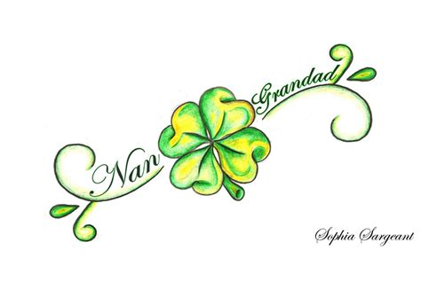 four leaf clover tattoo design clover images designs