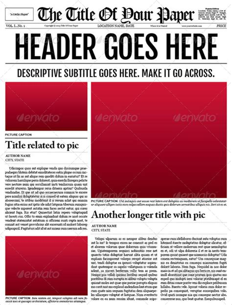 Word Newspaper Template Free newspaper template 19 free documents in pdf