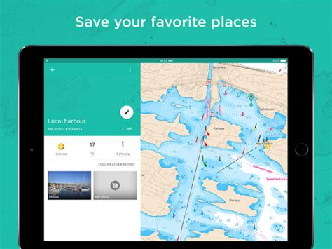 best marine navigation app embark your nautical charts for boating screenshot