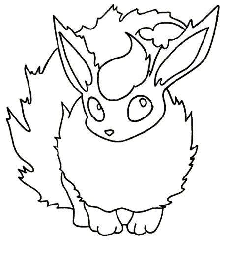 pokemon coloring pages flareon pokemon flareon colouring pages