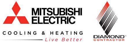 mitsubishi electric cooling and heating logo duct free product offering ac heating electrical