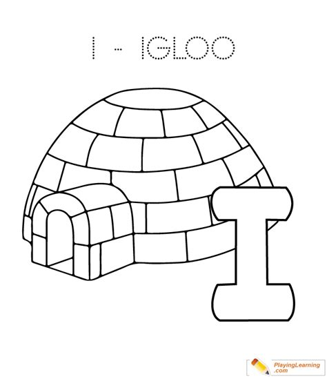 coloring page for igloo i is for igloo page printable coloring pages