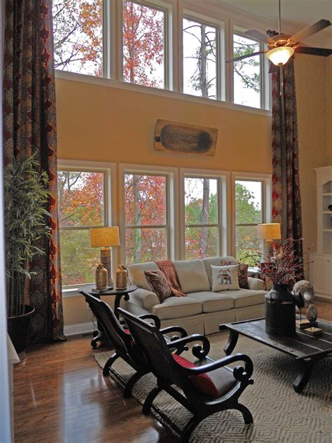 Large Kitchen Window Treatment Ideas tall window treatments living room traditional with 2