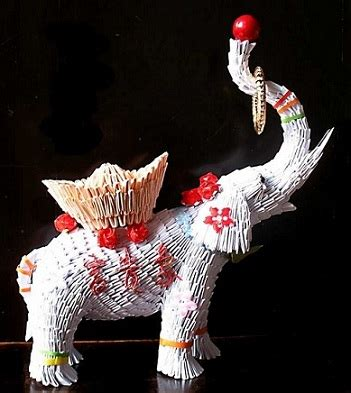 3d Origami Elephant - what is origami 3d origami circus elephant