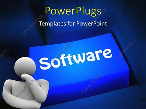 powerpoint template software powerpoint template computer software concept with a