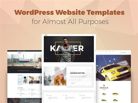 wordpress website templates for almost all purposes wp daddy