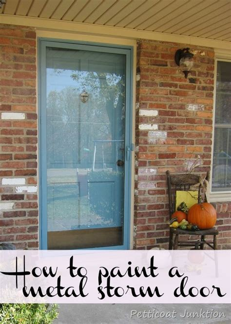 Painted Metal Storm Door And Front Door Home Improvement How To Paint A Steel Front Door