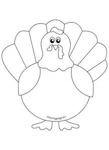 Printable Turkey Template by Printable Turkey Coloring Pages For Coloring Page