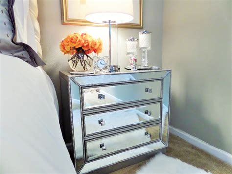 home goods mirrored nightstand image for mirrored