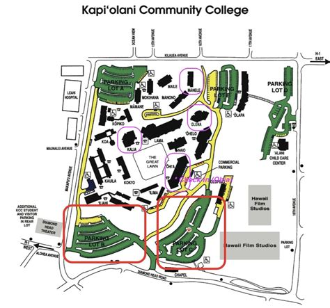 kingsborough community college map kcc cus map my