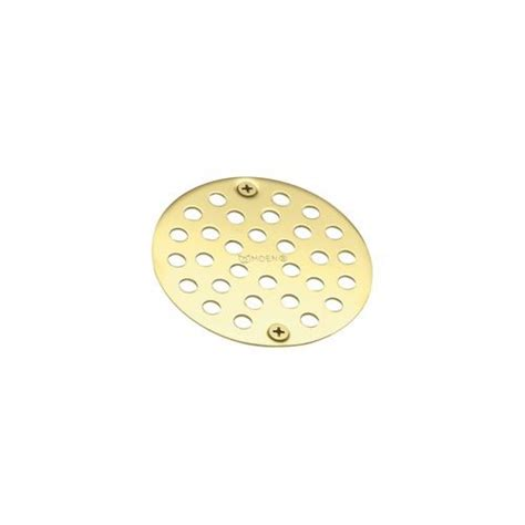 moen tub and shower drain cover in polished brass the