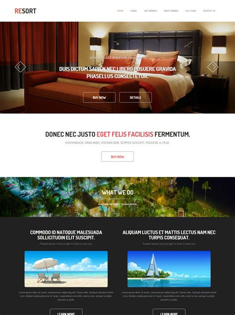 Resort Hotel Website Template Resort Website Templates Dreamtemplate Resort Website Template