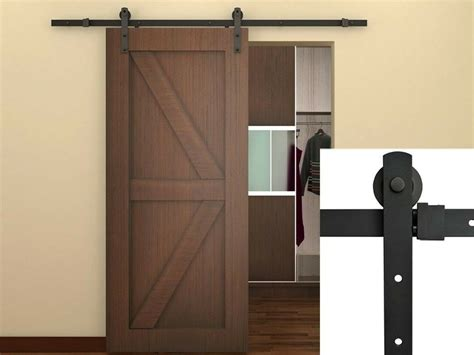closet sliding door hardware 6ft black country barn wood steel sliding door hardware closet set antique style ebay