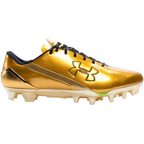 gold football shoes armour spotlight le s lacrosse cleat black gold