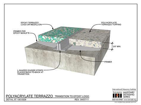 07.130.0328: Polyacrylate Terrazzo   Transition to Epoxy