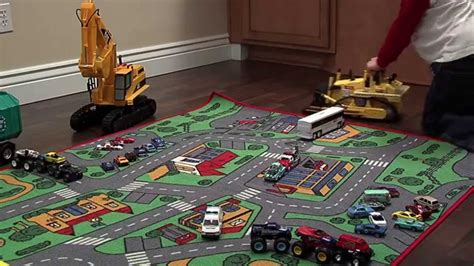 Toy Cars And Trucks Short Version With Notes Youtube Car Rugs For
