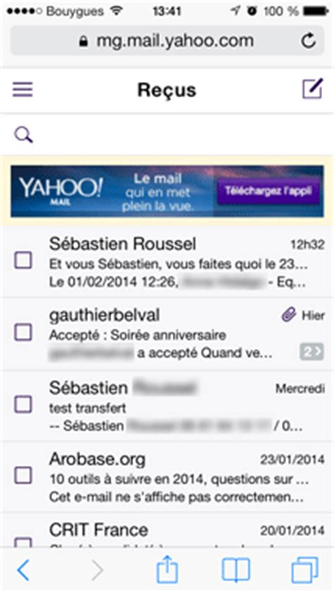 yahoo mail mobile consulter sa bo 238 te yahoo mail sur mobile