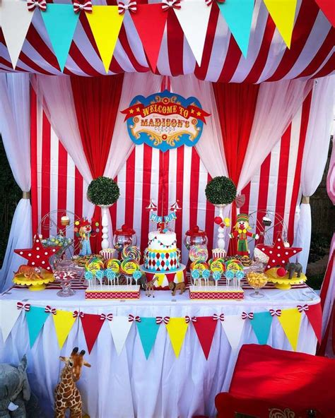 circus carnival birthday party   party ideas