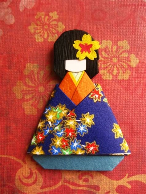 Origami Paper Doll - japanese origami paper doll momiji