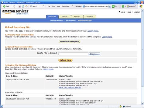 amazon seller amazon seller central download inventory