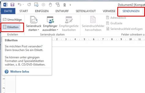 Etiketten Drucken Serienbrief Word 2007 by Word Etiketten Schnell Und Einfach Mit Pc Und Drucker