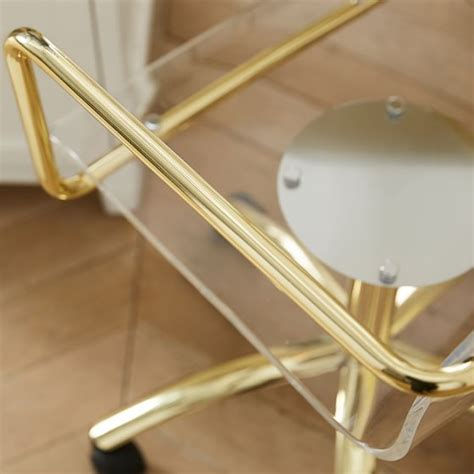 acrylic swivel desk chair gold paige acrylic swivel chair pbteen