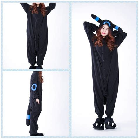 Hw Pajamas Blue Melody umbreon eevee blue black kigurumi onesie hoodie pajamas