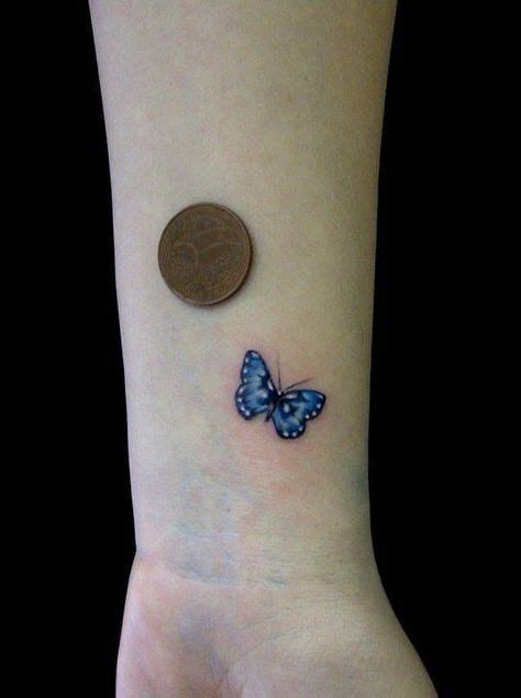 small cute butterfly tattoos small blue butterfly on wrist