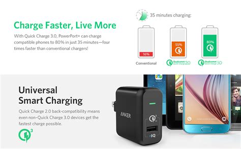 anker quick charge iphone x quick charge 3 0 anker 18w usb wall charger