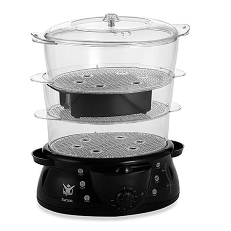 food steamer bed bath and beyond the biggest loser 2 in 1 3 tier food steamer and rice cooker bed bath beyond