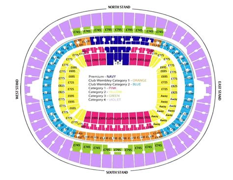 tottenham wembley seating plan away fans 2017 18 premier league fixtures page 2 saintsweb