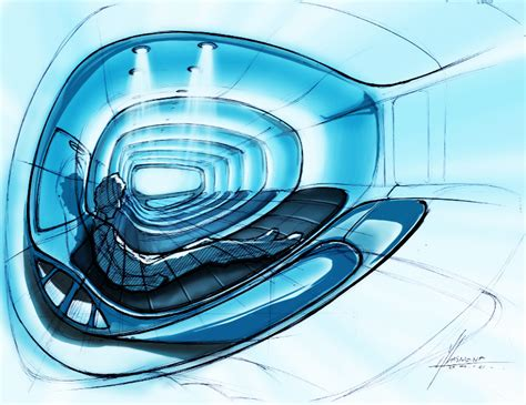 sci fi couch furniture sketches by alvin lasmana at coroflot com