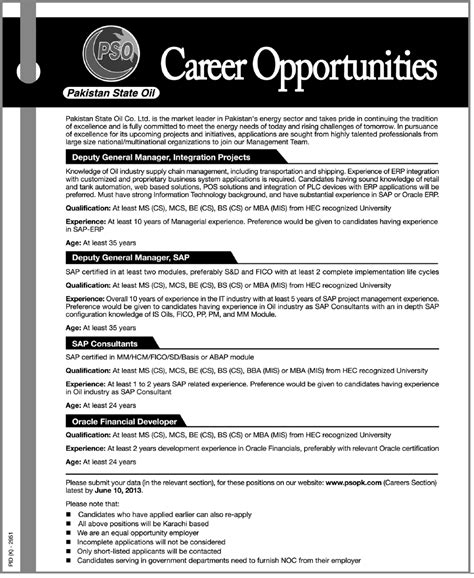 Mba Erp In Karachi by Pso 2013 May Karachi For General Managers Oracle