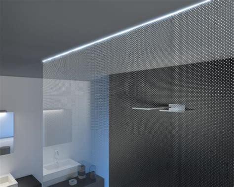 illuminazione doccia con led punto n cristalli schermo doccia effetto luce