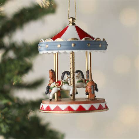 miniature carousel ornament christmas ornaments