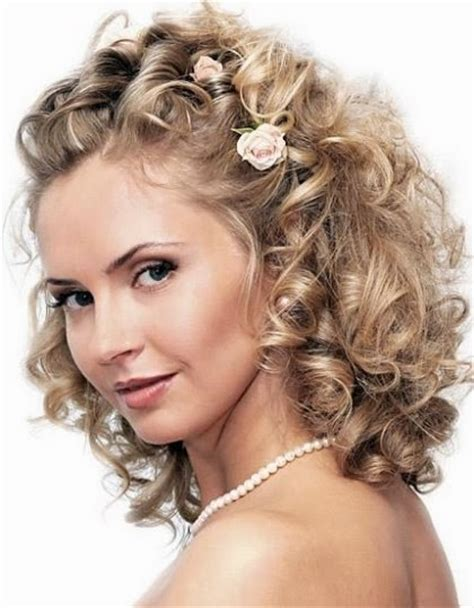 medium length wedding hairstyles wedding hairstyle - Wedding Hairstyles Curly Medium Length Hair