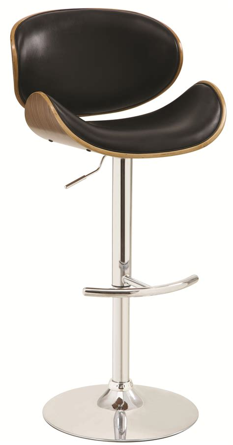 adjustable stool with back adjustable bar stool with black upholstery and wood back