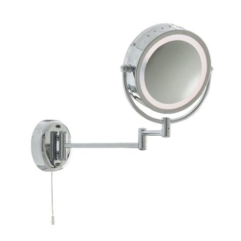 bathroom magnifying mirror with light 11824 magnifying mirror in a chrome ip44