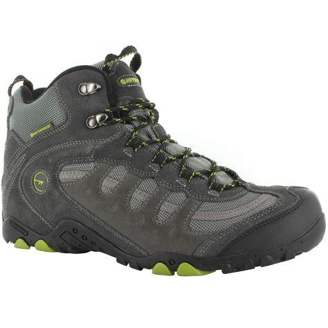 mens hi tec walking boots hi tec mens penrith mid wp walking boots waterproof trail